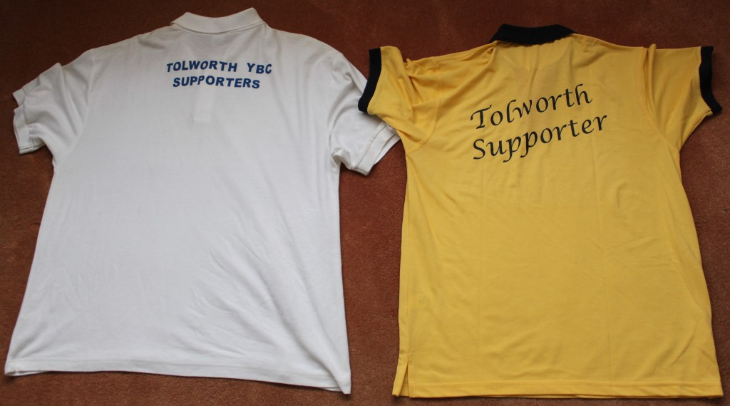 Tolworth Supports Shirts from a time when we had many supporters at tournaments.